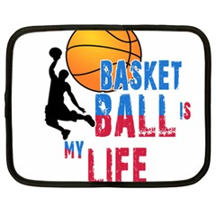 Basketball Is My Life Netbook Case (xxl)  by Valentinaart
