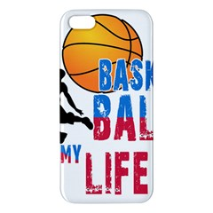 Basketball Is My Life Apple Iphone 5 Premium Hardshell Case by Valentinaart