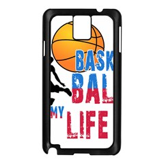 Basketball Is My Life Samsung Galaxy Note 3 N9005 Case (black) by Valentinaart