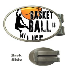 Basketball Is My Life Money Clips (oval)  by Valentinaart