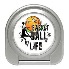 Basketball Is My Life Travel Alarm Clocks by Valentinaart
