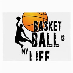 Basketball Is My Life Large Glasses Cloth by Valentinaart