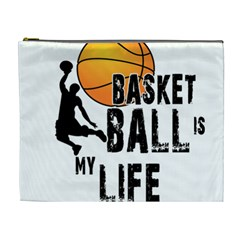 Basketball Is My Life Cosmetic Bag (xl) by Valentinaart