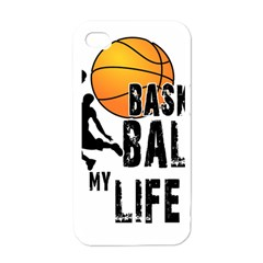 Basketball Is My Life Apple Iphone 4 Case (white) by Valentinaart