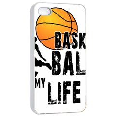 Basketball Is My Life Apple Iphone 4/4s Seamless Case (white)