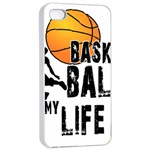 Basketball is my life Apple iPhone 4/4s Seamless Case (White) Front