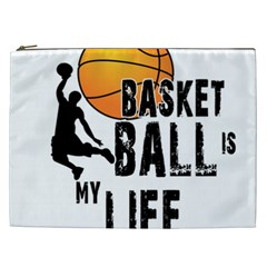 Basketball Is My Life Cosmetic Bag (xxl)  by Valentinaart