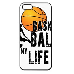 Basketball Is My Life Apple Iphone 5 Seamless Case (black) by Valentinaart