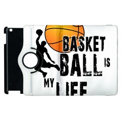Basketball Is My Life Apple Ipad 2 Flip 360 Case by Valentinaart