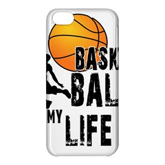Basketball Is My Life Apple Iphone 5c Hardshell Case by Valentinaart