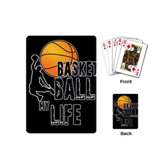 Basketball Is My Life Playing Cards (mini)  by Valentinaart