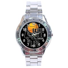 Basketball Is My Life Stainless Steel Analogue Watch by Valentinaart