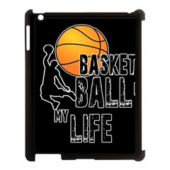 Basketball Is My Life Apple Ipad 3/4 Case (black) by Valentinaart