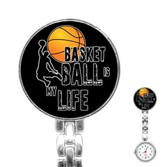Basketball Is My Life Stainless Steel Nurses Watch by Valentinaart