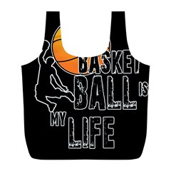 Basketball Is My Life Full Print Recycle Bags (l)  by Valentinaart