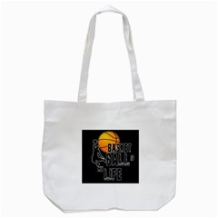 Basketball Is My Life Tote Bag (white) by Valentinaart