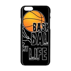 Basketball Is My Life Apple Iphone 6/6s Black Enamel Case by Valentinaart