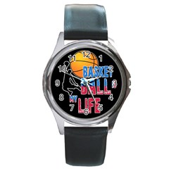 Basketball is my life Round Metal Watch