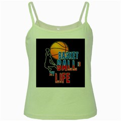 Basketball is my life Green Spaghetti Tank