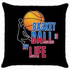Basketball is my life Throw Pillow Case (Black)