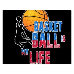 Basketball is my life Rectangular Jigsaw Puzzl
