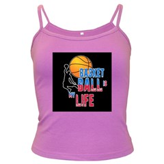 Basketball is my life Dark Spaghetti Tank