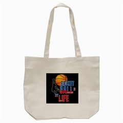 Basketball is my life Tote Bag (Cream)