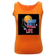 Basketball is my life Women s Dark Tank Top
