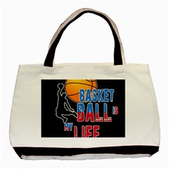 Basketball is my life Basic Tote Bag