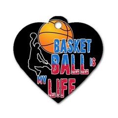 Basketball is my life Dog Tag Heart (Two Sides)