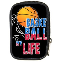 Basketball is my life Compact Camera Cases