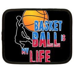 Basketball is my life Netbook Case (XL)