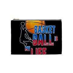 Basketball is my life Cosmetic Bag (Medium)