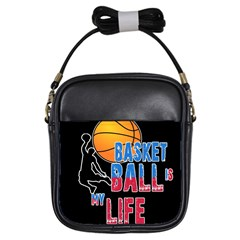 Basketball is my life Girls Sling Bags