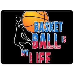 Basketball is my life Fleece Blanket (Large)