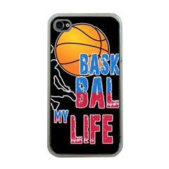 Basketball is my life Apple iPhone 4 Case (Clear)