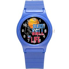 Basketball is my life Round Plastic Sport Watch (S)