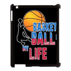 Basketball is my life Apple iPad 3/4 Case (Black)