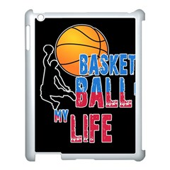 Basketball is my life Apple iPad 3/4 Case (White)
