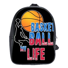 Basketball is my life School Bags (XL)