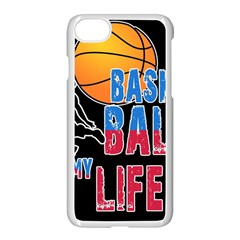 Basketball is my life Apple iPhone 7 Seamless Case (White)