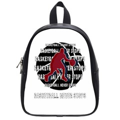 Basketball Never Stops School Bags (small)
