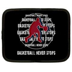 Basketball Never Stops Netbook Case (large) by Valentinaart