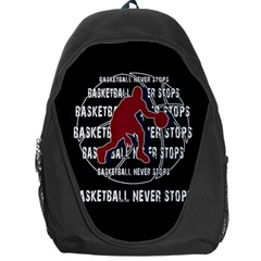 Basketball Never Stops Backpack Bag by Valentinaart