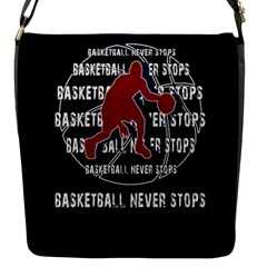 Basketball Never Stops Flap Messenger Bag (s)