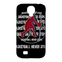 Basketball Never Stops Samsung Galaxy S4 Classic Hardshell Case (pc+silicone) by Valentinaart