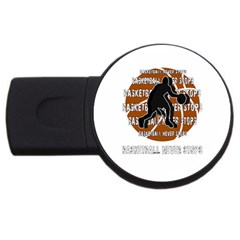 Basketball Never Stops Usb Flash Drive Round (2 Gb) by Valentinaart