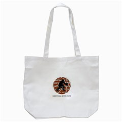 Basketball Never Stops Tote Bag (white)