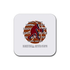Basketball Never Stops Rubber Coaster (square)