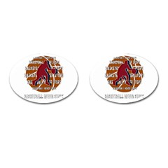 Basketball Never Stops Cufflinks (oval) by Valentinaart